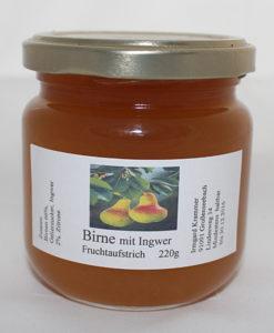 Birne mit Ingwer Fruchtaufstrich - Marmelade