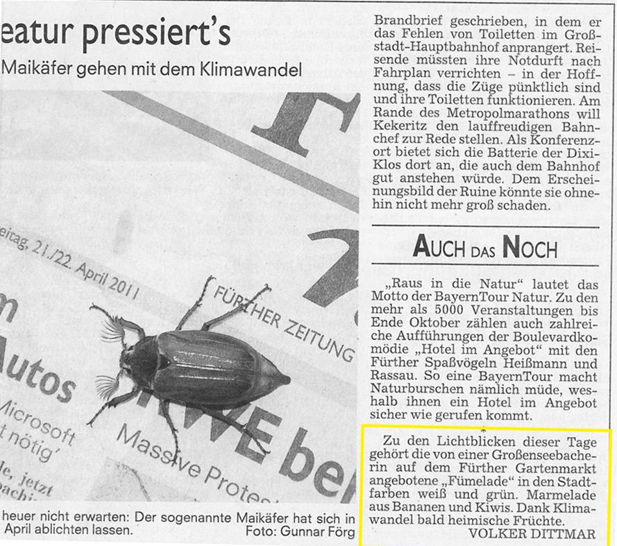 Fürther Nachrichten 29.04.2011