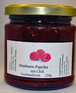 Himbeer-Paprika-Chili Fruchtaufstrich