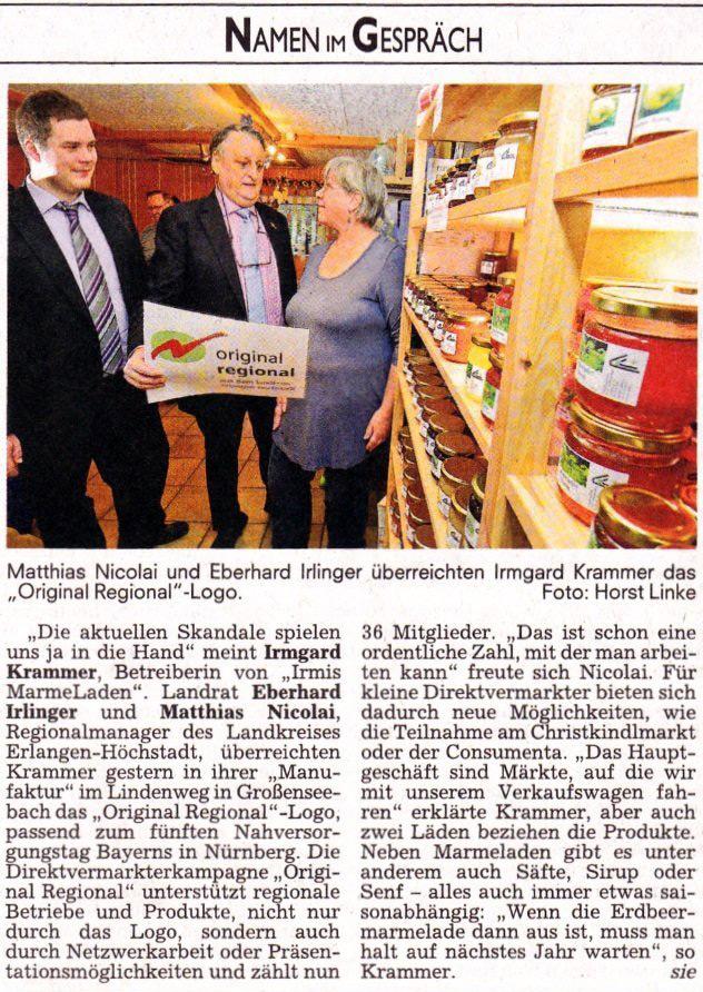 Nordbayrische Nachrichten 04.03.2013