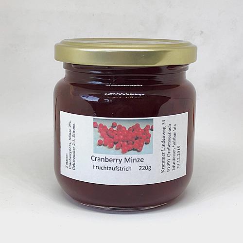 Cranberry Minze Fruchtaufstrich