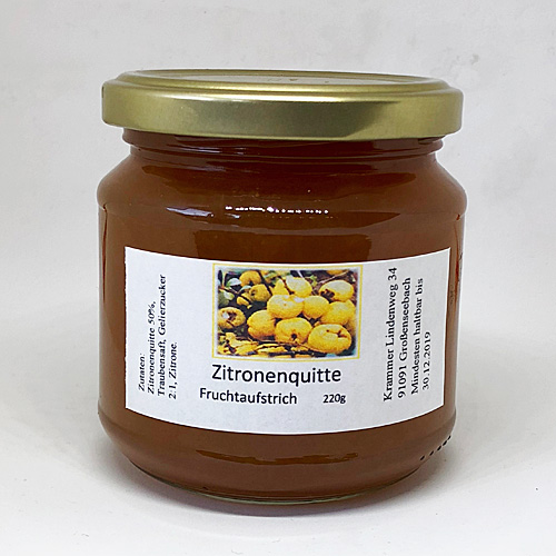 Zitronenquitte Fruchtaufstrich